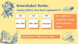boneshaker summer hours